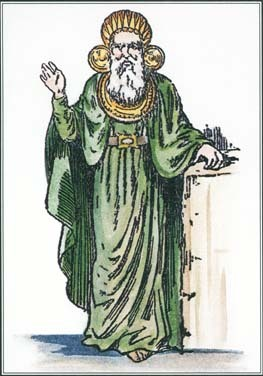 Druids, priests of an ancient Celtic order, served as both religious and political leaders.