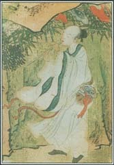 Heaven, described as a sacred place or paradise, appears in the myths and stories of cultures around the world. This silk painting shows an immortal being playing the flute in the Taoist heaven.