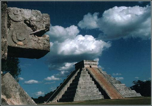 The Pyramid of Kukulcan (Quetzalcoatl) in the ancient Mayan city of Chichén Itzá was constructed around 1050. The Maya probably used the pyramid as a calendar. The pyramid