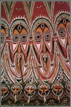 This bark painting from New Guinea shows Ruban, a figure of knowledge.