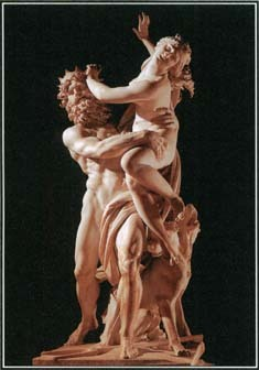 Hades, the god of the underworld, wanted the beautiful Persephone as his wife. This marble sculpture by Bernini from the 1620s shows Hades carrying Persephone off to his kingdom.