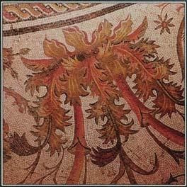 The acanthus plant, shown here in a mosaic from A.D. 200, was associated with death and immortality in Greek, Roman, and early Christian art.