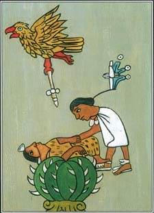 One type of sacrifice, which was practiced by the Aztecs of Mexico, involved blood offerings to feed the gods. Aztec priests conducted elaborate ceremonies of human sacrifice.